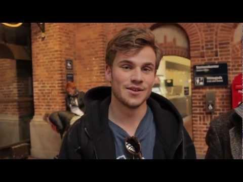 Allan Hyde før sit interview i Go' Aften Danmark.