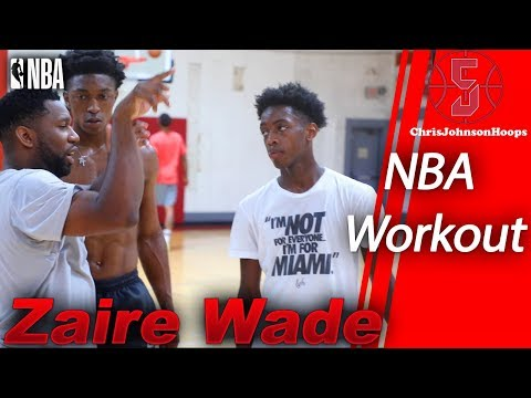Zaire Wade and Stanley Johnson Insane NBA Workout!! Zaire Bouncy