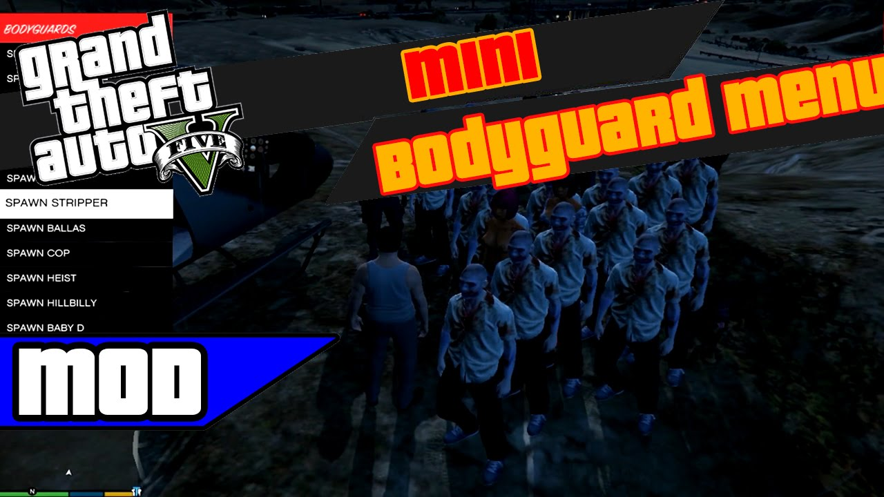 Gta 5 Mods Mini Bodyguard скачать