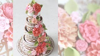 How To Make 3-d Contoured Wedding Cake Cookies (part 2)