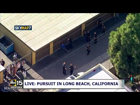 LIVE: Police pursuit in the Long Beach, California area