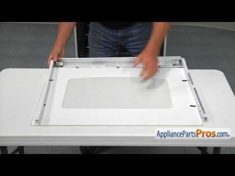 Range Oven Door Glass (Part #WB56T10187) - How To Replace