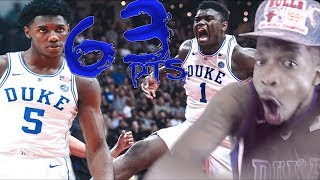 ZION WILLIAMSON & RJ BARRETT 63 POINTS DEBUT DOMINATION!