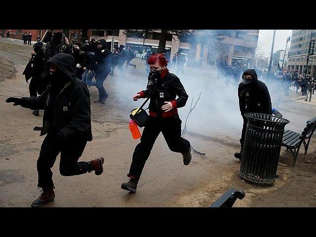 Вашингтон: массовые протесты на фоне инаугурации