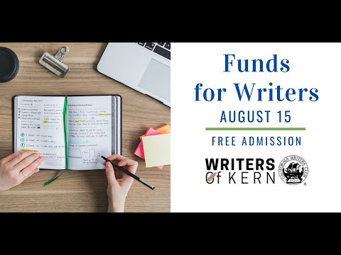 """August 15, 2020 - """"Funds for Writers"""""""