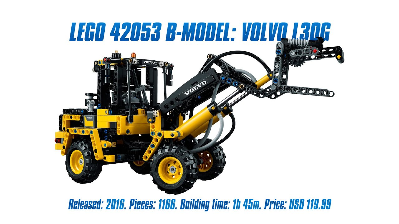39 lego technic 42053 b model volvo l30g 39 speed build. Black Bedroom Furniture Sets. Home Design Ideas