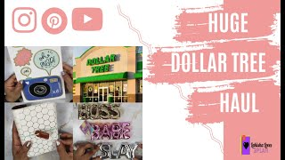 HUGE Crafty #DOLLARTREE #HAUL and #HAPPYMAIL!