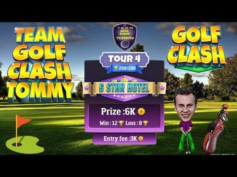 Golf Clash tips, Hole 5  Par 4, Vegas Sundown Tournament  Rookie Division, GUIDETUTORIAL