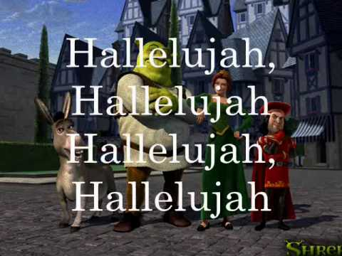 Shrek Hallelujah Lyrics Youtube