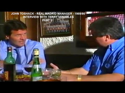 JOHN TOSHACK - REAL MADRID MANAGER - 1989-90 - INTERVIEW WITH TERRY VENABLES -MADRID-SPAIN - PART 2