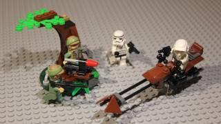 LEGO Star Wars Endor Rebel Trooper & Imperial Trooper Battle Pack Review 9489