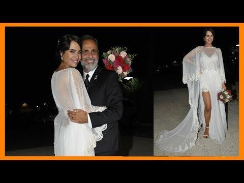 El vestido de novia la ceremonia novia Romina Pereiro con Jorge Rial