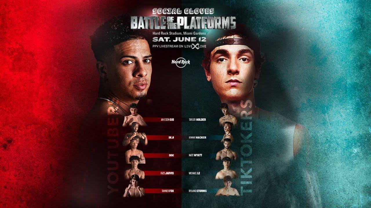 Download TIKTOK VS YOUTUBE EVENT FULL FIGHTS!!!