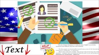 Job Interview in English Practice Conversation - Apply for a Position - Apprendre ...
