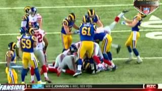 Giants Kicker Josh Brown Mule-Kicks Rams' Cody Davis in the Facemask 2014