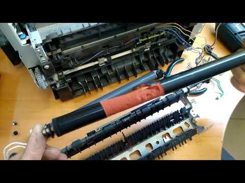 Разорваный резиновый вал от принтера