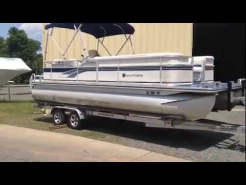 2001 Harris 220 Sunliner W90hp And Trailer Used Pontoon For Sale