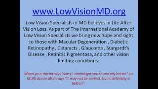 Low Vision Rehabilitation Specialists Baltimore, Maryland