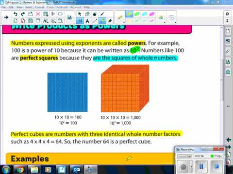 Ch6 Lesson 1 Powers Exponents Video Lecture Youtube