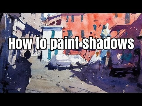 How to paint shadows - Watercolor Tutorial by Tim Wilmot #39