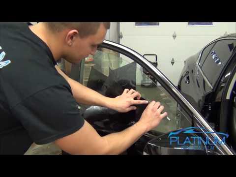 How To Professionally Tint a Car Door Window - Infiniti Q50s