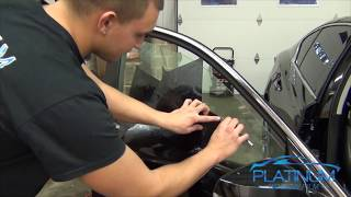 How To Professionally Tint a Car Door Window - Infiniti Q50s