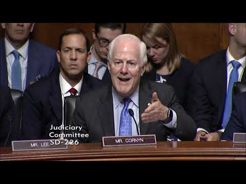 Cornyn Questions Judge Kavanaugh Hearing