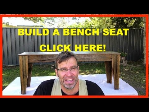 How to Build a Bench Seat. Awesome DIY Project!