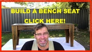 How To Build A Bench Seat. Rustic Recycled Wood Furniture.