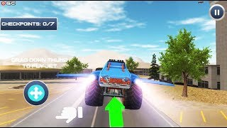 Offroad Flying Monster Truck Driving - 4x4 Monster Truck Games - Android Gameplay