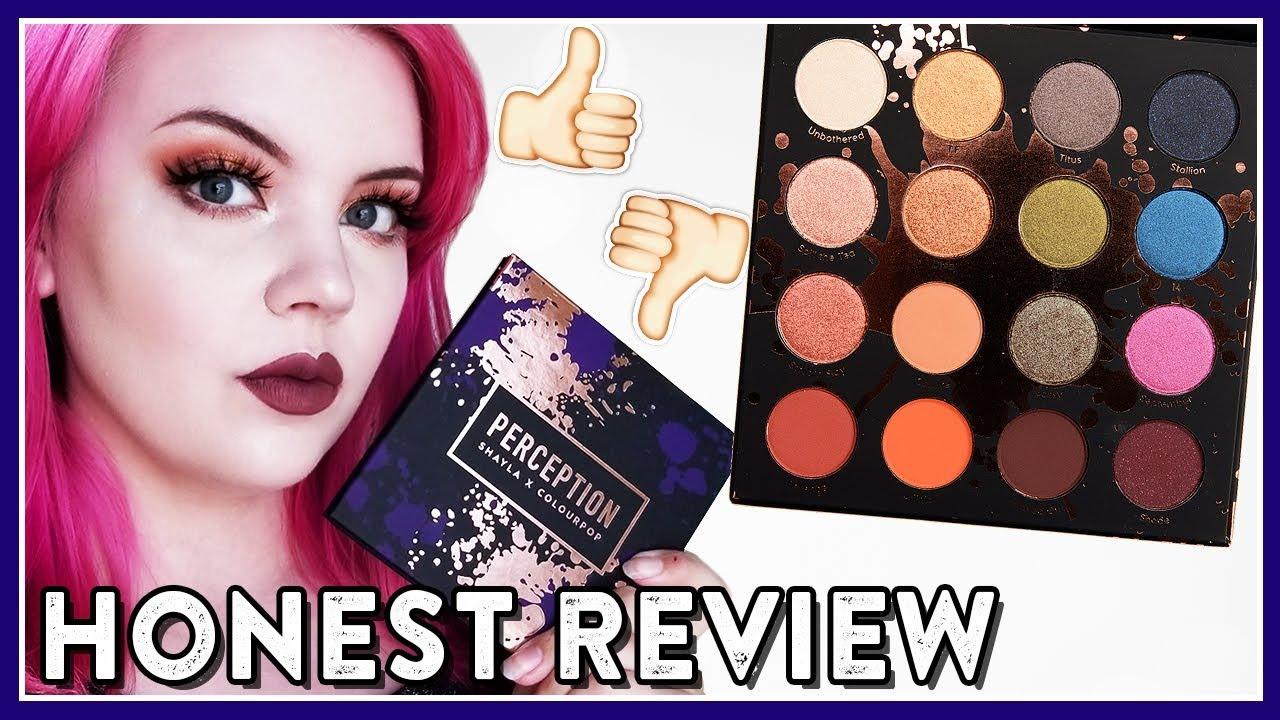 Makeupshayla X Colourpop Perception Palette Review Tutorial
