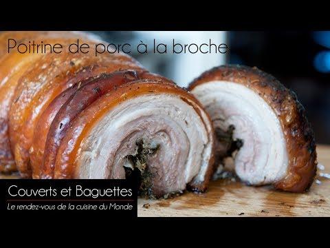 Poitrine de porc à la broche