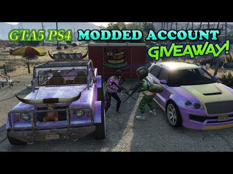 GTA5 PS4 (FREE TO ENTER) MODDED ACCOUNT GIVEAWAY ON GLEAM!