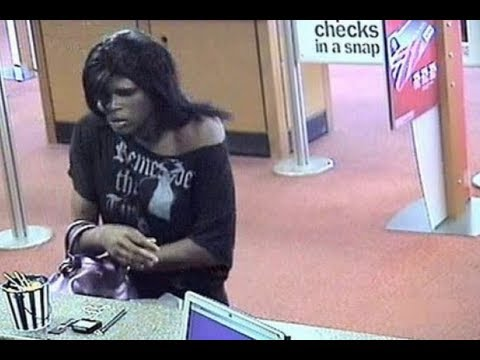 Man In Drag Robs Bank Of America - Ceres, California