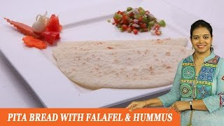 Pita Bread With Falafel & Hummus - Mrs Vahchef