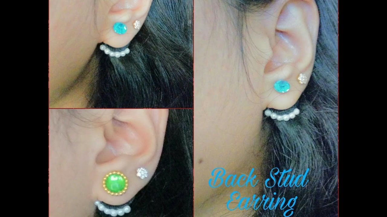 How To Make Back Stud Earring Ear Cuff At Home Tutorial