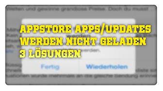 AppStore Apps oder Updates werden nicht geladen | 3 Lösungen [iPhone]