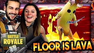 ON TESTE LE MODE FLOOR IS LAVA DE FORTNITE ! | FORTNITE DUO LE SOL EST EN LAVE