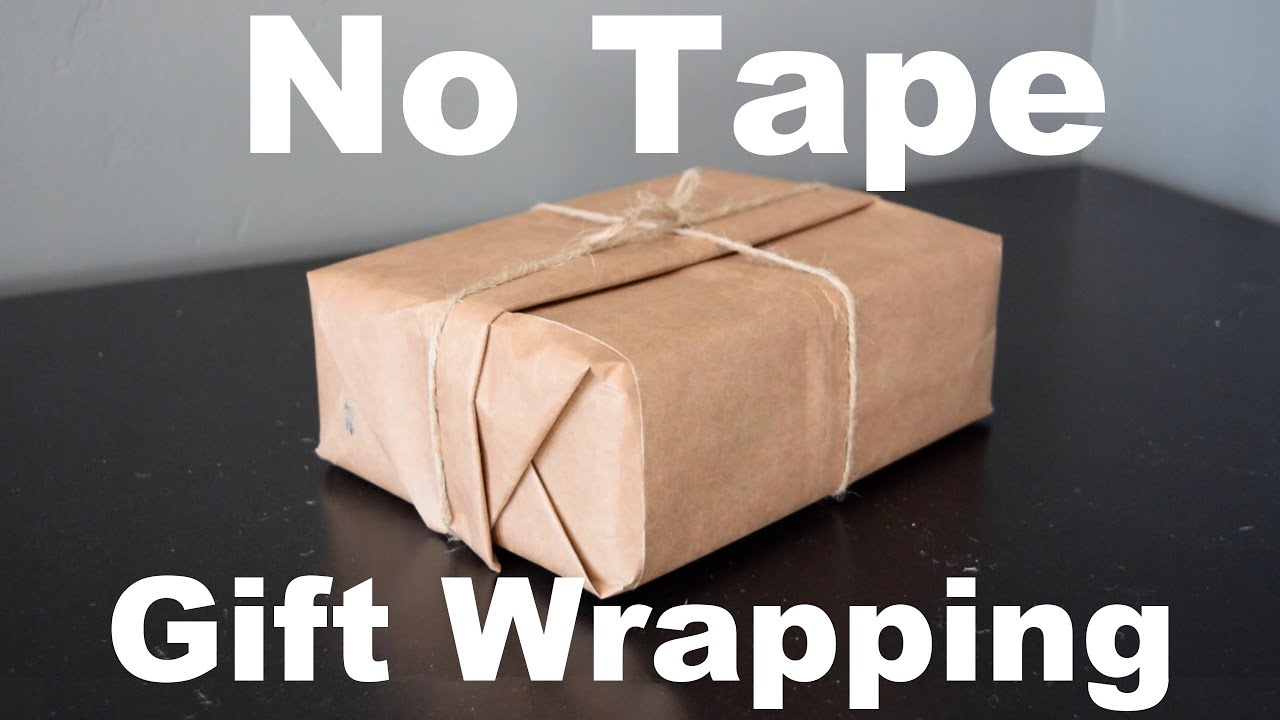 No Tape Gift Wrap Christmas Gift Wrapping For Guys