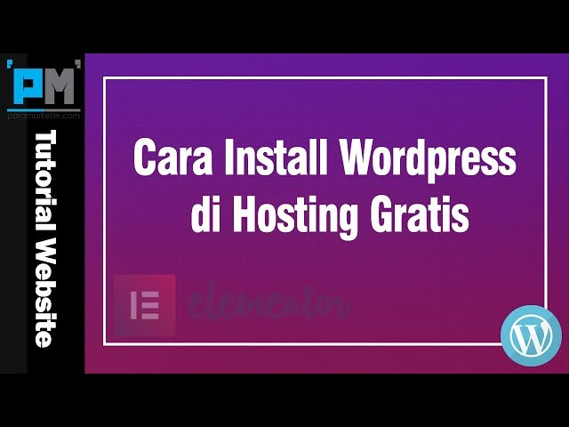 Cara Install WordPress di Hosting Gratis #11