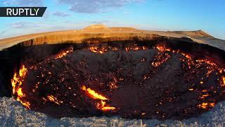 Адское пламя: в туркменской пустыне почти полвека горит кратер