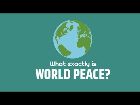 What exactly is WORLD PEACE? (Theories of violence & peace)