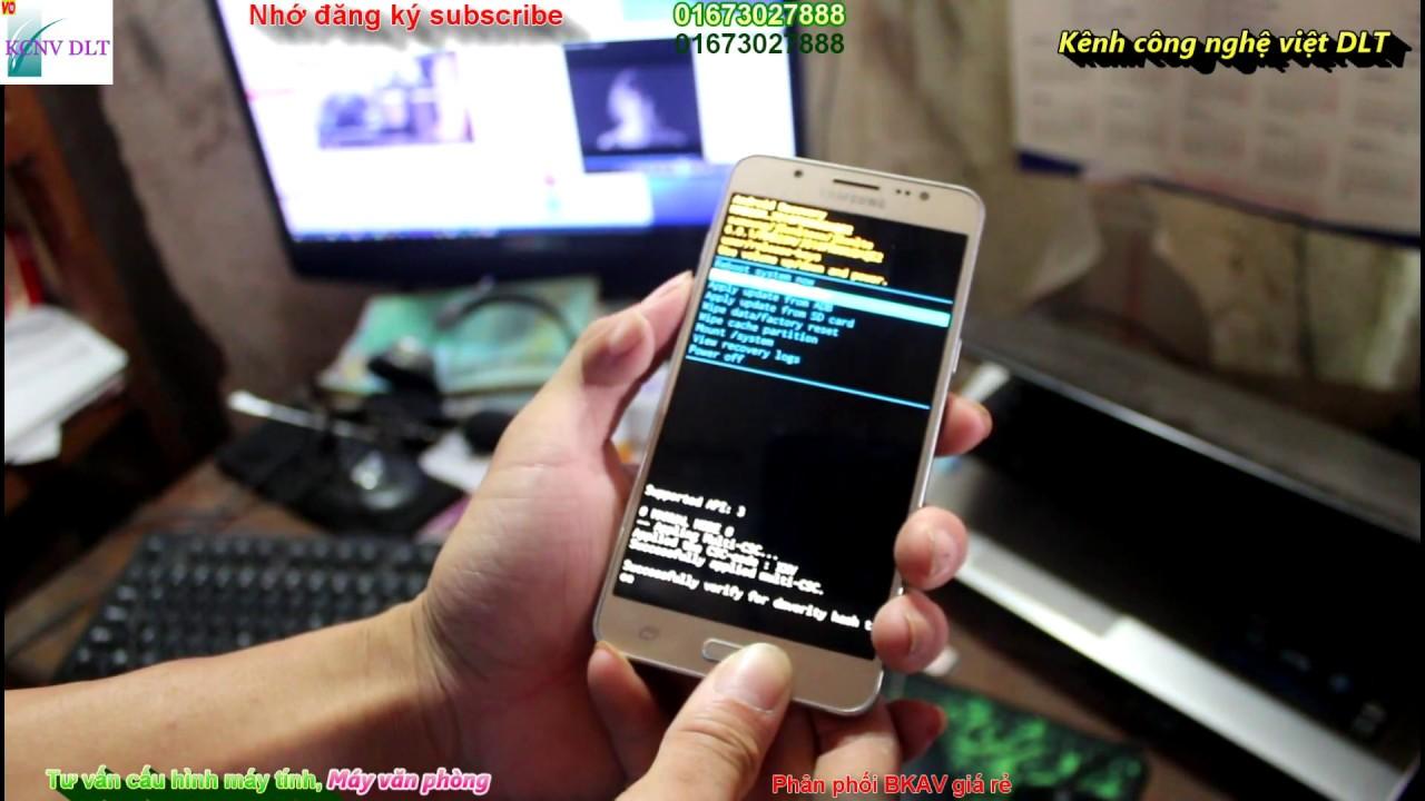 PHÁ khoá màn hình SAMSUNG GALAXY J5 J7, A7 mới nhất