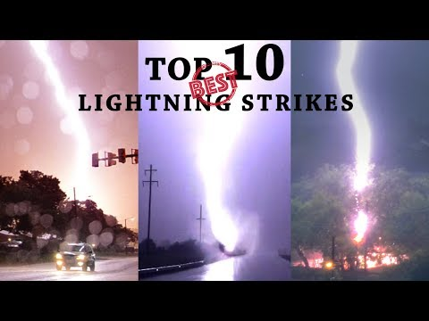 BEST LIGHTNING STRIKES - Top 10 Countdown