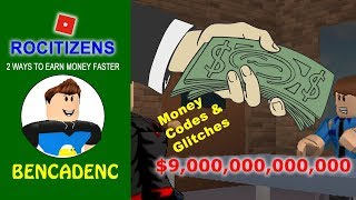 2 Ways to Earn Money Faster in RoCitizens | The Most Powerful and Hidden Money Glitches
