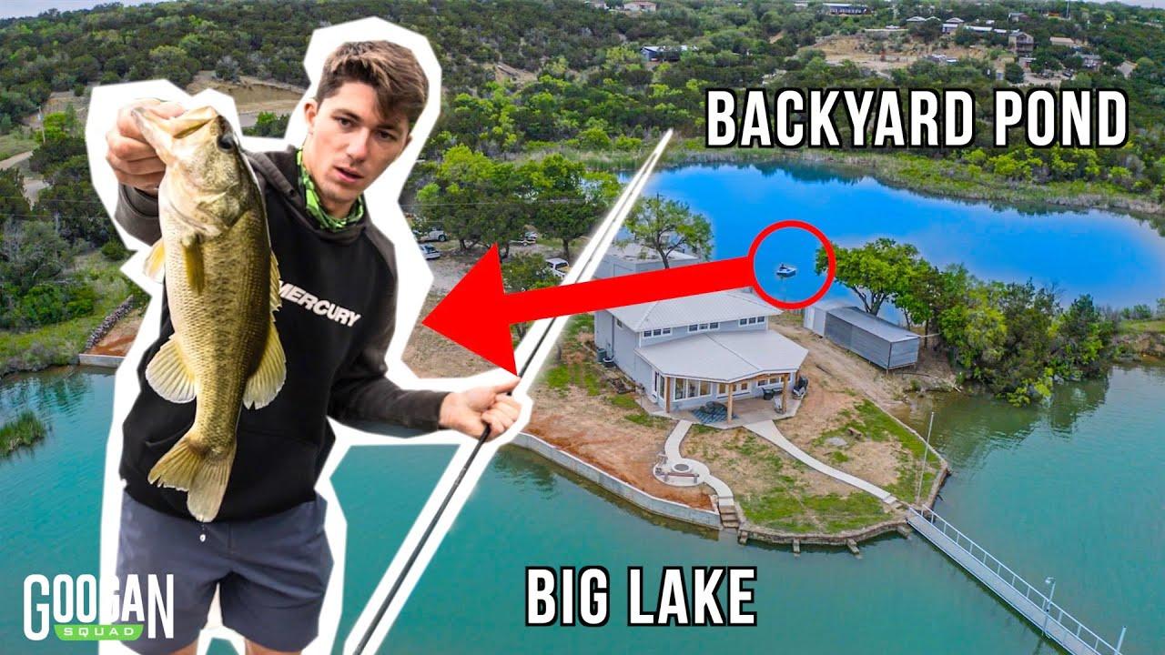 Googans CRASH LAKE HOUSE With a BACKYARD POND!