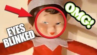 Elf on the shelf caught moving 🎄 top 5 christmas compilationtop - camera#elfontheshelf #elf #elfontheshelfcaughtoncameraa co...
