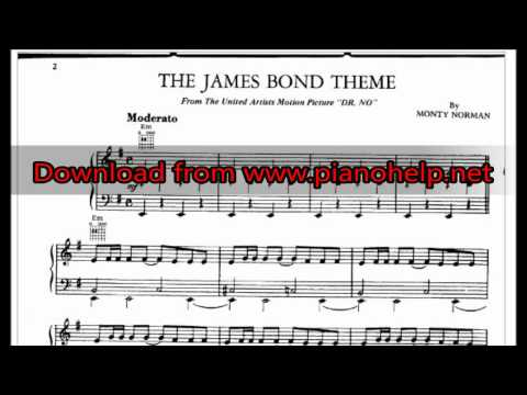 James Bond Theme piano sheet music