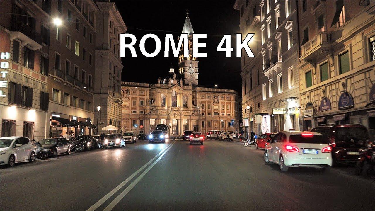 Rome 4K - Night Drive
