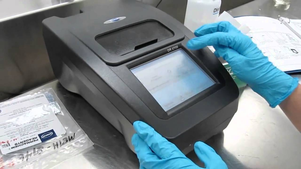 E Measurements5 Hach Spectrophotometer  YouTube